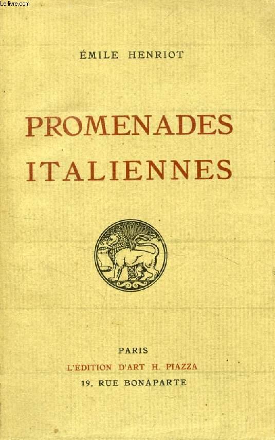 PROMENADES ITALIENNES