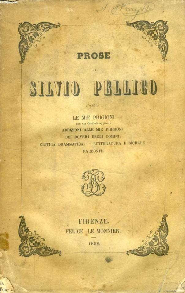 PROSE DI SILVIO PELLICO