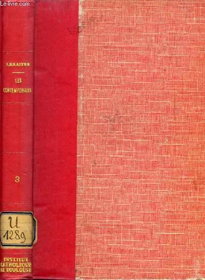 LES CONTEMPORAINS, ETUDES ET PORTRAITS LITTERAIRES, 3e SERIE (O. Feuillet, Ed. et J. de Goncourt, P. Loti, H. Rabusson, J. de Glouvet, J. Soulary, Le duc d'Aumale...)