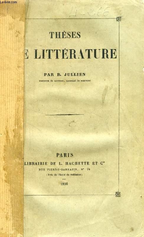 THESES DE LITTERATURE