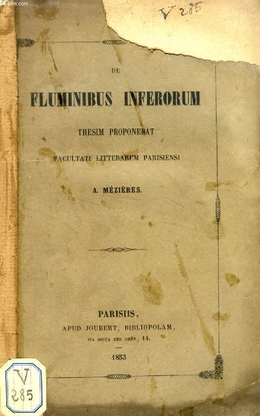 DE FLUMINIBUS INFERORUM (THESIS)