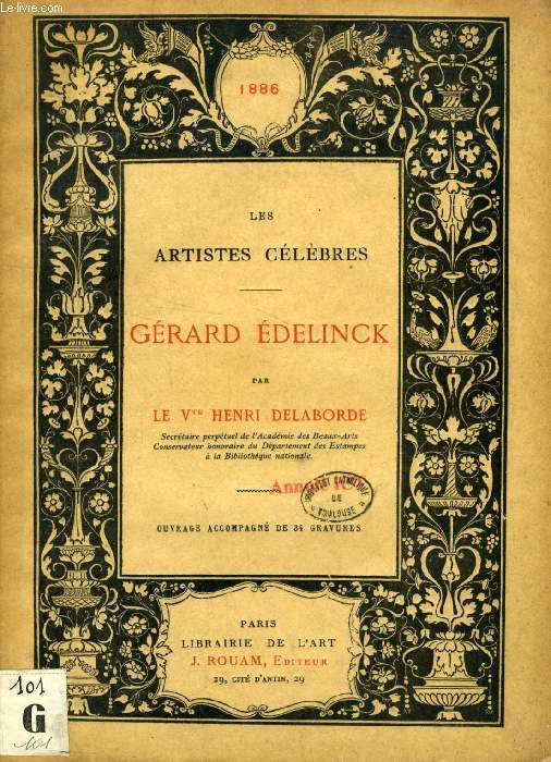 GERARD EDELINCK (LES ARTISTES CELEBRES)
