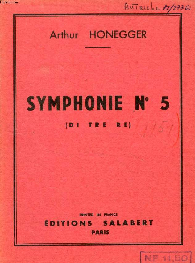 SYMPHONIE N° 5 (DI TRE RE)