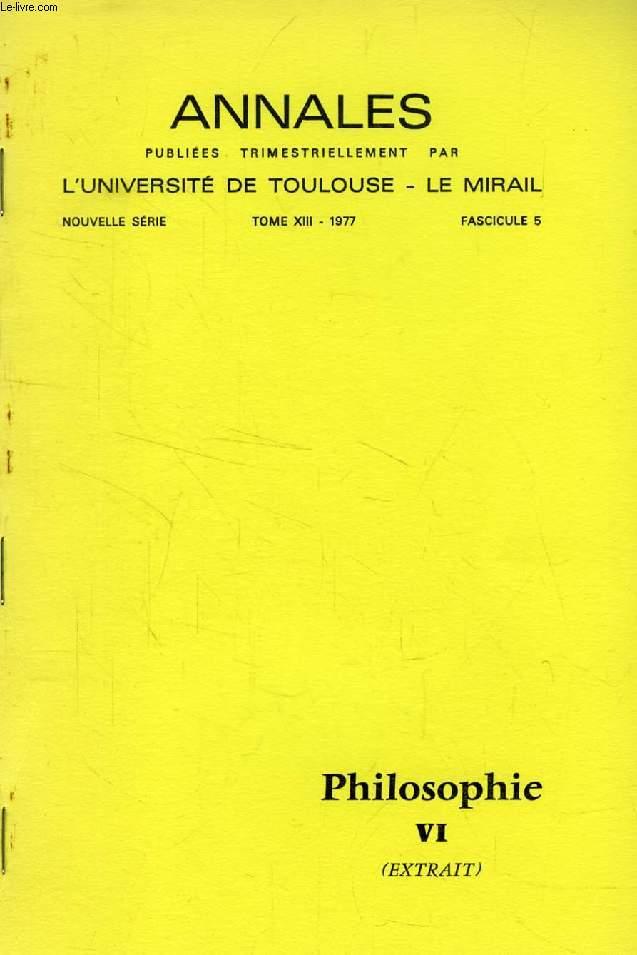 PLANS D'OUVRAGES D'ETHIQUE DE GEORGES BASTIDE (TIRE A PART)