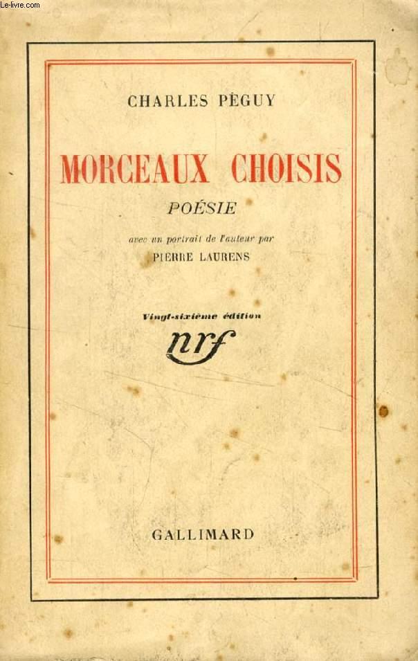 MORCEAUX CHOISIS, POESIE