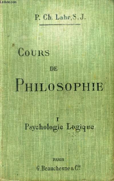 COURS DE PHILOSOPHIE, 2 TOMES, A L'USAGE DES CANDIDATS AU BACCALAUREAT ES LETTRES