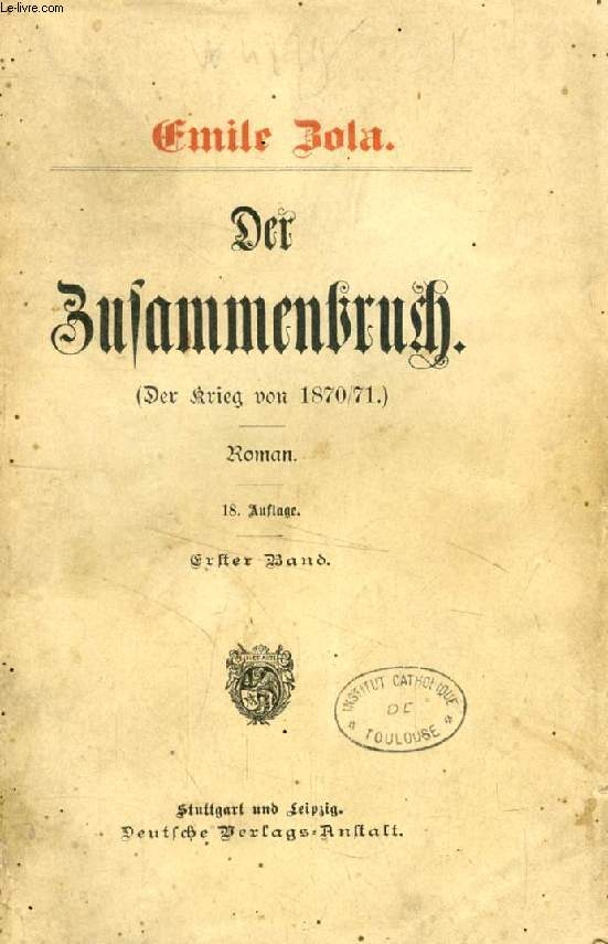DER ZUSAMMENBRUCH (DER KRIEG VON 1870/71), 3 BÄNDEN