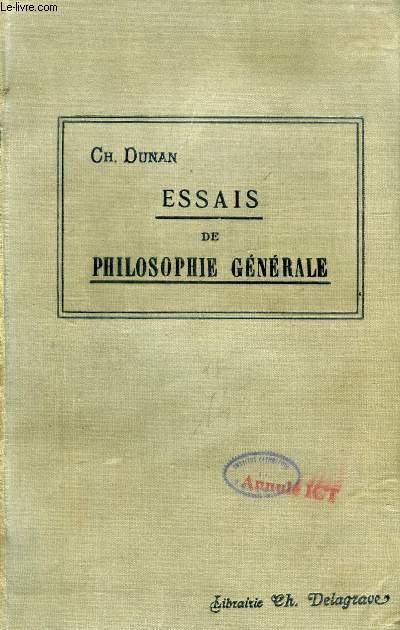 ESSAIS DE PHILOSOPHIE GENERALE, COURS DE PHILOSOPHIE