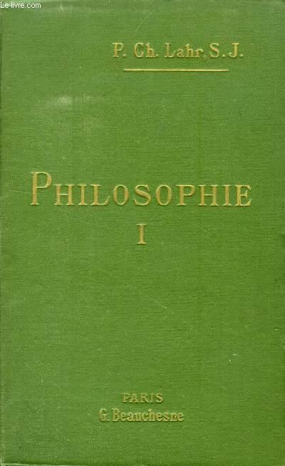 COURS DE PHILOSOPHIE, TOME I, PSYCHOLOGIE, LOGIQUE
