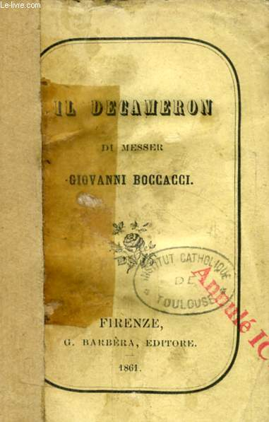 IL DECAMERON, VOL. I