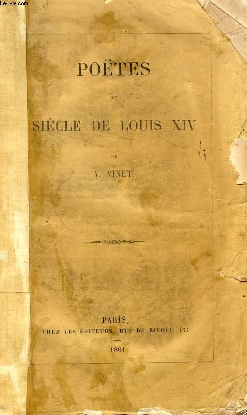 POETES DU SIECLE DE LOUIS XIV