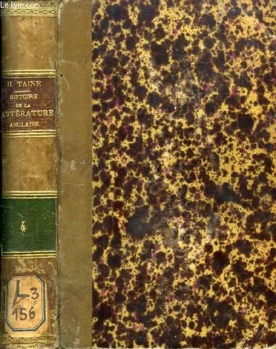 HISTOIRE DE LA LITTERATURE ANGLAISE, TOME IV