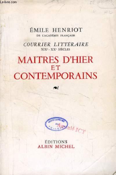 MAITRES D'HIER ET CONTEMPORAINS