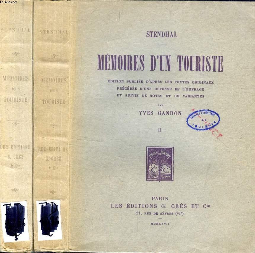 MEMOIRES D'UN TOURISTE, 2 TOMES
