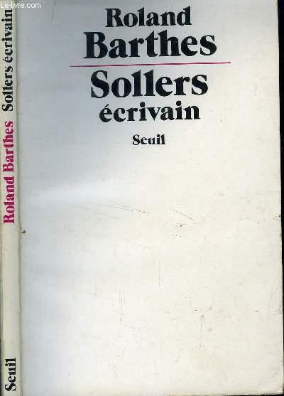 SOLLERS ECRIVAIN