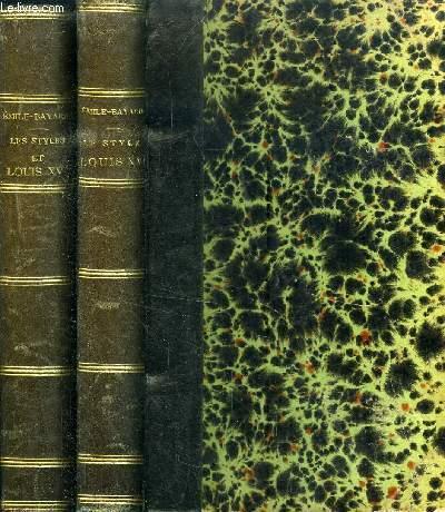 L ART DE RECONNAITRE LES STYLES : LE STYLE LOUIS XVI / LES STYLES REGENCE ET LOUIS XV // 2 VOLUMES