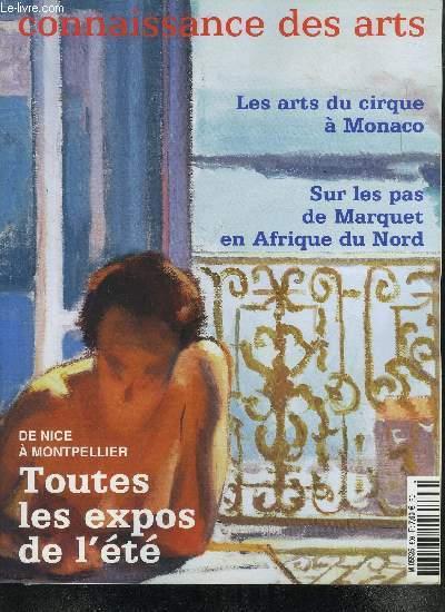 CONNAISSANCE DES ARTS-  N° 596 -  JUILLET AOUT 2002 // SOMMAIRE : LES ARTS DU CIRQUE A MONACO - SUR LES PAS DE MARQUET EN AFRIQUE DU NORD - DE NICE A MONTPELLIER  : TOUTES LES EXPOS DE L ETE