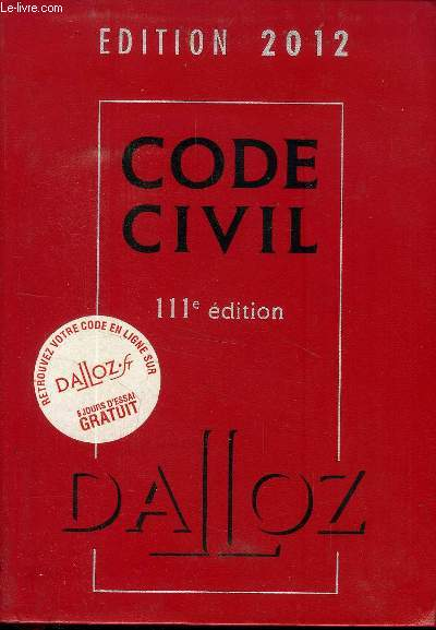 CODE CIVIL 111 EME EDITION