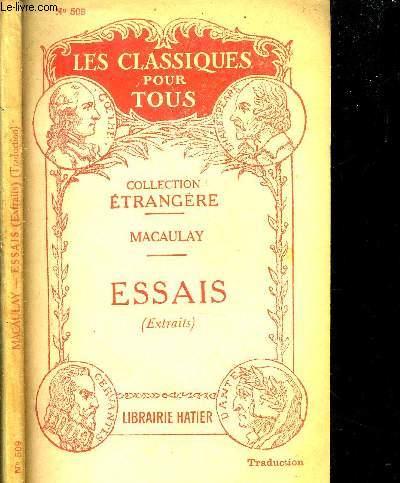 ESSAIS HISTORIQUES ET CRITIQUES (extraits) - N°509