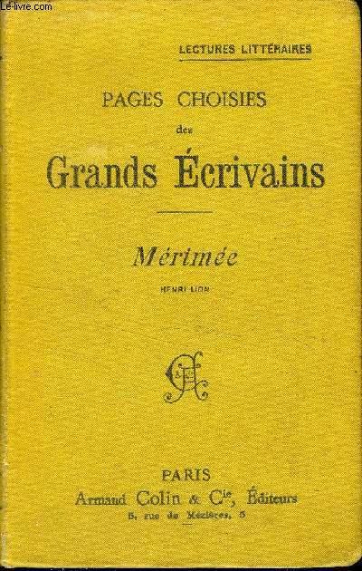 PAGES CHOISIES DES GRANDS ECRIVAINS - MERIMEE