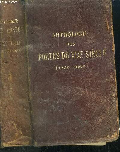 ANTHOLOGIE DES POETES DU XIXeme SIECLE