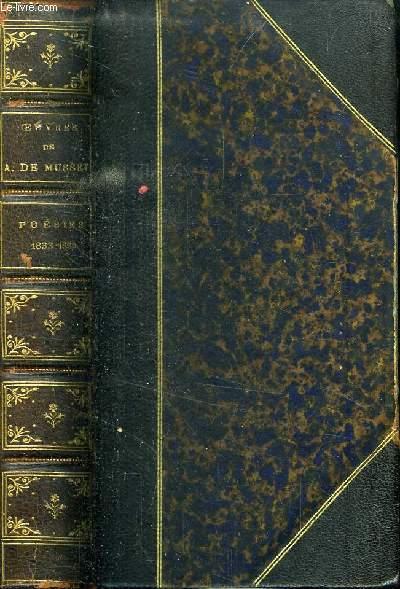 OEUVRES DE ALFRED DE MUSSET - POESIES 1833 -1852 : ROLLA - LES NUITS - POESIES NOUVELLES - CONTES EN VERS