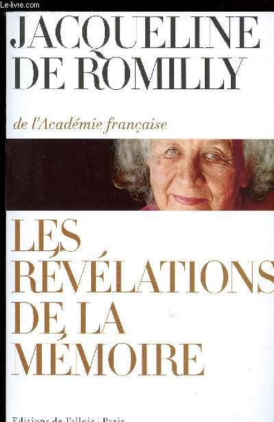 LES REVELATRIONS DE LA MEMOIRE