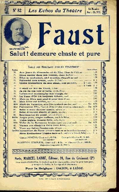 FAUST, SALUT ! DEMEURE CHASTE ET PURE