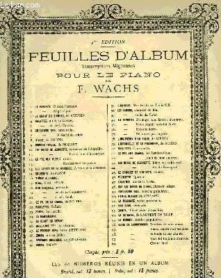 FEUILLES D'ALBUM