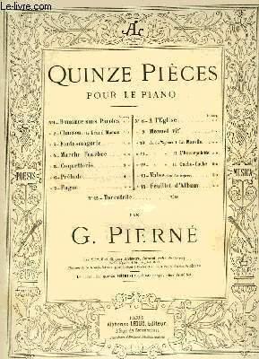 QUINZE PIECES POUR LE PIANO