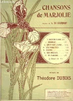 CHANSONS DE MARJOLIE
