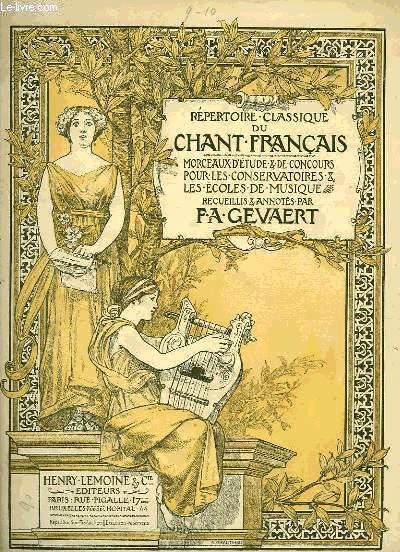 REPERTOIRE CLASSIQUE DU CHANT FRANCAIS
