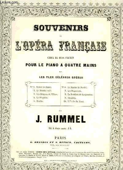 SOUVENIRS DE L'OPERA FRANCAIS