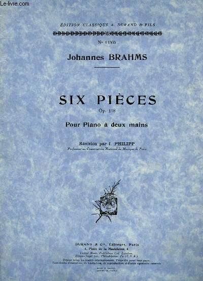 SIX PIECES POUR PIANO A DEUX MAINS