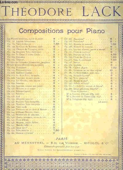 Compositions pour piano lack théodore Theodore Lack