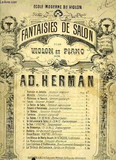 FANTAISIES DE SALON POUR VIOLON ET PIANO