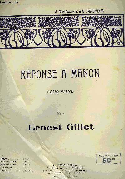 REPONSE A MANON