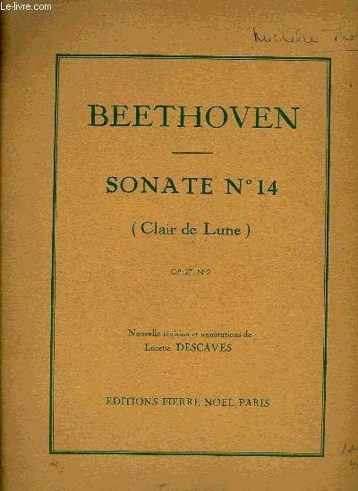SONATES N°14 (CLAIR DE LUNE)