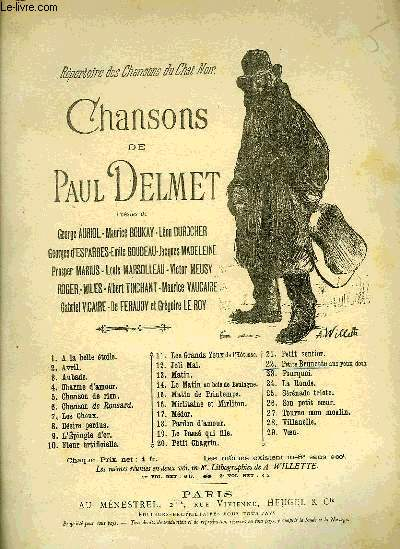 CHANSONS DE PAUL DELMET