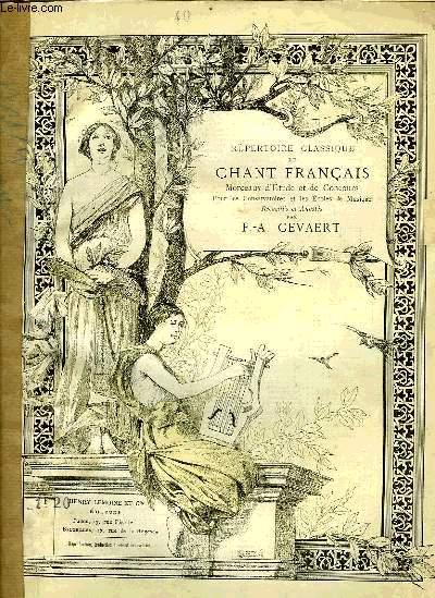 REPERTOIRE CLASSIQUE DU CHANT FRANCAIS N°40