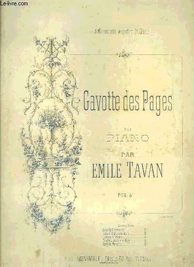 GAVOTTE DES PAGES