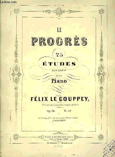 LE PROGRES, 25 ETUDES FACILES