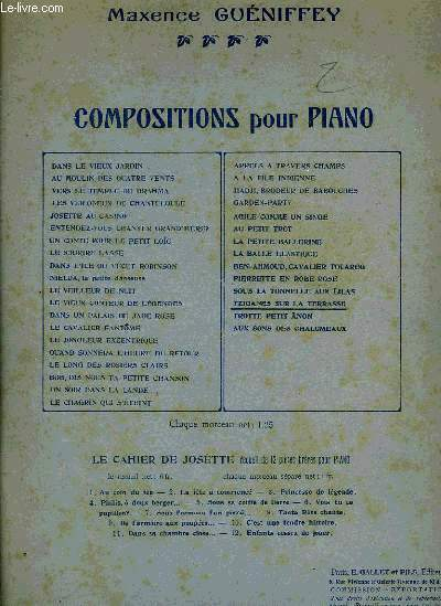 COMPOSITIONS POUR PIANO
