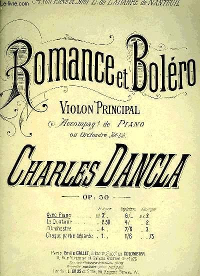 ROMANCE ET BOLERO