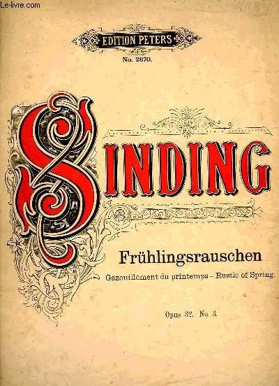 FRUHLINGSRAUSCHEN (GAZOUILLEMENT DU PRINTEMPS)