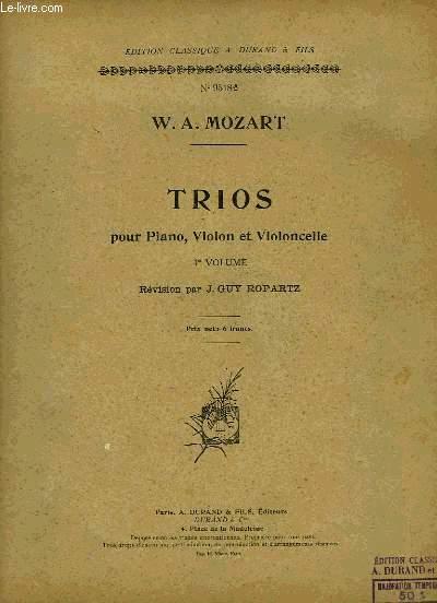TRIOS POUR PIANO, VIOLON ET VIOLNCELLE
