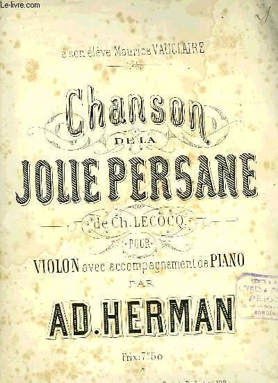 CHANSON DE LA PERSANE