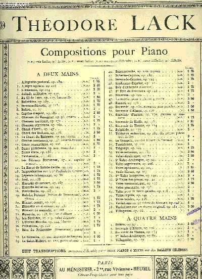COMPOSITIONS POUR PIANO