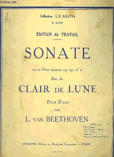 SONATE DITE DU CLAIR DE LUNE