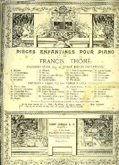 PIECES ENFANTINES POUR PIANO